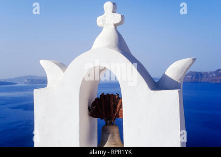 Church in Town of Thira (Santorini) - Stock Image