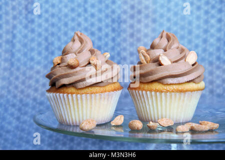 Peanut butter cupcakes - Stock Image