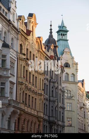 Baroque architecture, Prague, Czech Republic - Stock Image