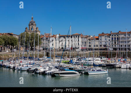 The Vieux Port of La Rochelle in the Charente-Maritime region of France. - Stock Image
