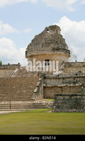 The Caracol also Called the Observatory, Chichen Itza, Yucatan Peninsular, Mexico - Stock Image