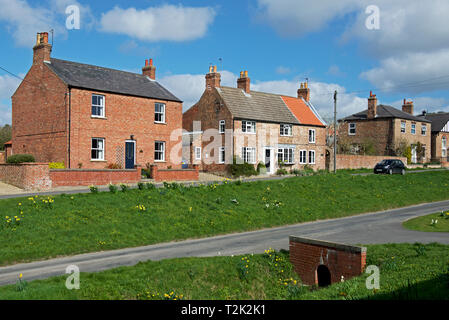The village of Bishop Wilton, East Yorkshire, England UK - Stock Image