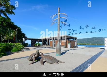 Turtle Sculptures, Marlin Wharf, Cairns, Far North Queensland, FNQ, QLD, Australia - Stock Image