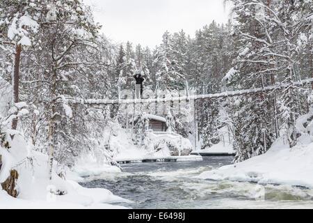 Myllykoski rapids,  Juuma, Oulankajoki National Park, Kuusamo, Finland - Stock Image