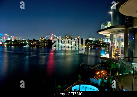 Neutral Bay and the Sydney Harbour Bridge - Stock Image