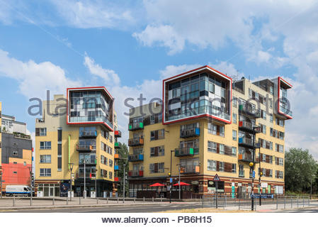 Greenwich Millennium Village Town Square - Stock Image