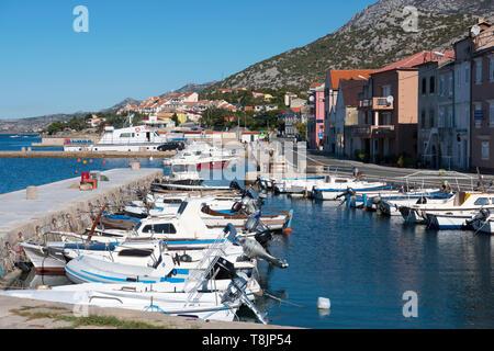 Kroatien, Kvarner Bucht, Karlobag, Hafen - Stock Image
