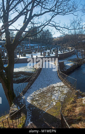 The Old Bridge over the River Isla in the Moray Village of Keith in Scotland. - Stock Image