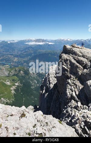 France, Isere, Devoluy mountain range, Pellafol, view from Obiou's peak (2789m) - Stock Image