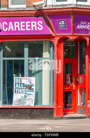 Armed forces recruitment office in Norwich, Norfolk, East Anglia, UK. - Stock Image