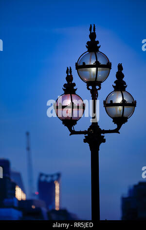 Street Lamps in City of London, London, England, UK - Stock Image