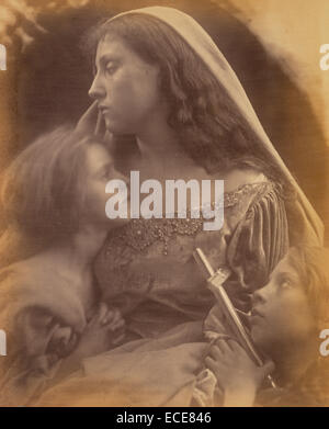 Holy Family; Julia Margaret Cameron, British, born India, 1815 - 1879; Freshwater, England, Europe; 1872; Albumen - Stock Image