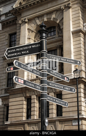 Street sign in Whitehall London - Stock Image