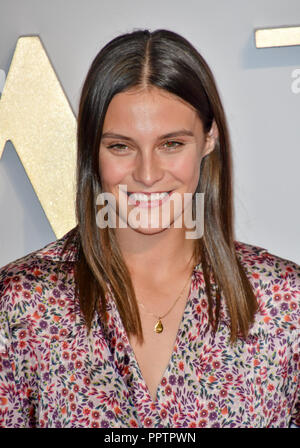 London, UK. 27th September 2018. Charlotte Wiggins attend A Star Is Born UK Premiere at Vue Cinemas, Leicester Square, London, UK 27 September 2018. Credit: Picture Capital/Alamy Live News - Stock Image