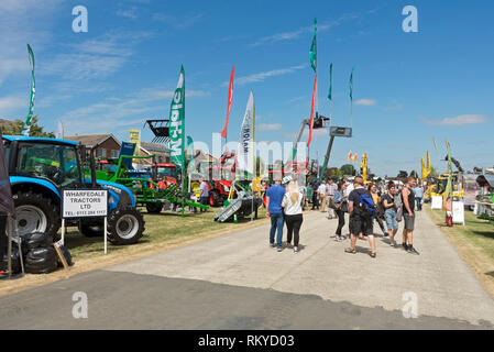 Agricultural machinery and equipment stands at the Great Yorkshire Show. - Stock Image