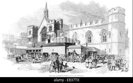 The new committee Rooms House of Commons 1844 London - Stock Image