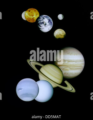 Solar System or Planetary System - Stock Image