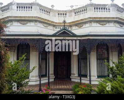 Victorian Italianate mansion in suburban Ascot Vale, Melbourne, Australia - Stock Image