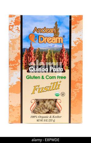 Andean Dream Quinoa Pasta Fusilli - Stock Image