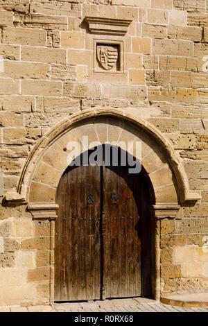 Main door, The Medieval Lapidary Museum, North Nicosia, Turkish Northern Cyprus October 2018 - Stock Image