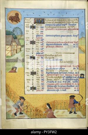 Calendar Page for July. - Stock Image