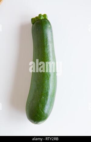 Fresh vegetables, green zucchini - Stock Image