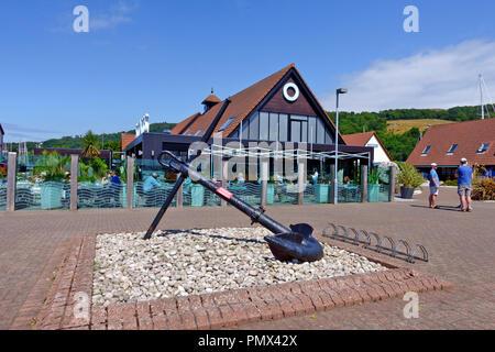 Scott's Bar & Restaurant at Largs Yacht Haven in AyrshireLargs marina - Stock Image