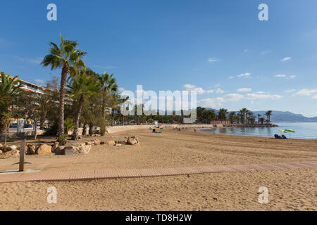 Playa de Rihuete one the beaches in Puerto de Mazarron Murcia Spain - Stock Image