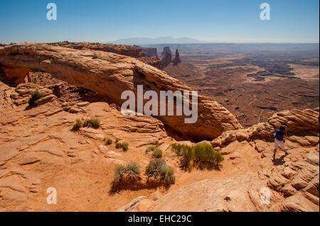 Canyonlands National Park Mesa Arch - Stock Image