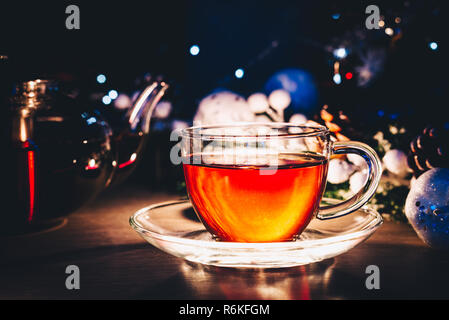 Cup of tea with copy space - Stock Image