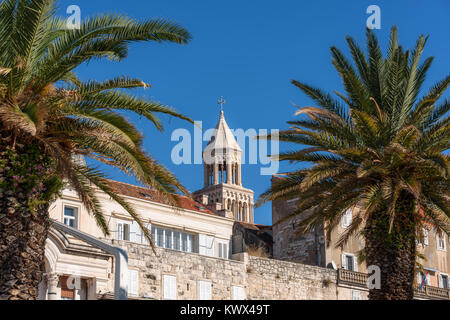 Top of St. Domnius Cathedral Bell tower, Split, Croatia - Stock Image