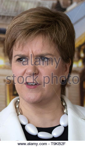 File photo dated 15/05/19 of First Minister Nicola Sturgeon, who has suggested she would still push for a second independence referendum even if the UK remained in the European Union. - Stock Image