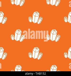 Diamond pattern vector orange - Stock Image