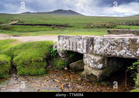 View of Rough Tor in Cornwall, England, UK - Stock Image
