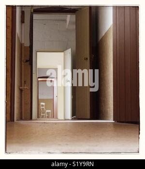 Chair in the corridor. - Stock Image