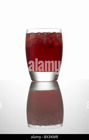 Pomegranate Juice in Glass - Stock Image