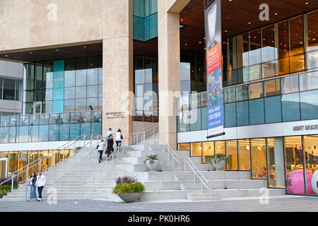 Charlotte North Carolina. Mint Museum in Uptown at dusk.Mint Museum of Art. - Stock Image