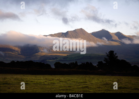 MacGillycuddy's Reeks, Killarney National Park, Iveragh Peninsula, County Kerry, Munster, Republic of Ireland, - Stock Image