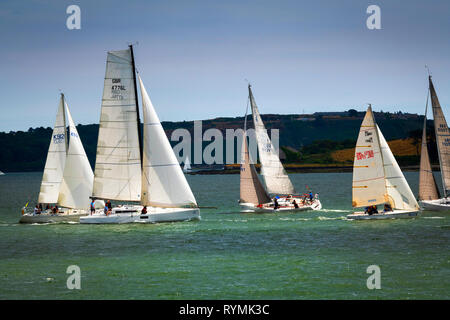 Boat Racing at Cobh in County Cork, Ireland - Stock Image