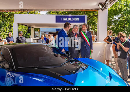 Piedmont Turin - Turin auto show 2019  - Valentino park - personalities visit the stands - Paolo Pininfarina - Stock Image