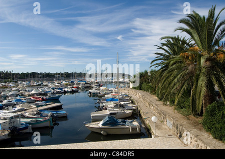 Marina on Cap d'Antibes, Riviera, France - Stock Image
