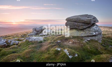 Rippon Tor Dartmoor National Park Devon Uk - Stock Image