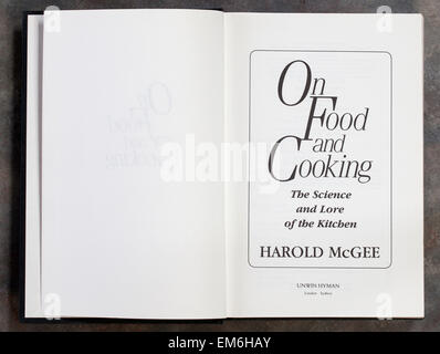 'On Food and Cooking' By Harold Mcgee - Stock Image