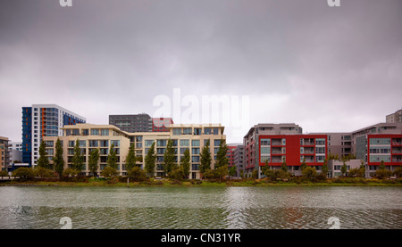 Luxury homes on Mission Bay, San Francisco, California, USA - Stock Image