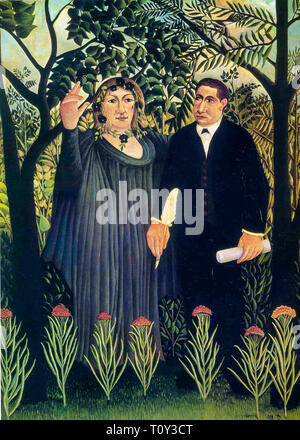 Henri Rousseau, The Muse Inspiring the Poet, painting, 1909 - Stock Image