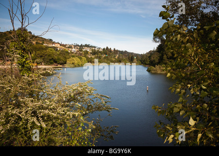 Lake Temescal in the Oakland hills, California, USA - Stock Image