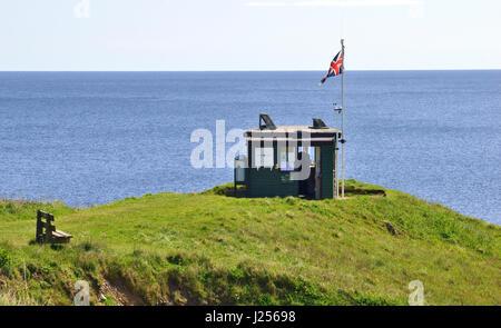 National Coastwatch Portscatho Lookout Station, Pednvadan Point, Cornwall, England, UK - Stock Image