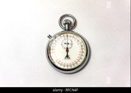 Stopwatch showing 4 minutes - Stock Image