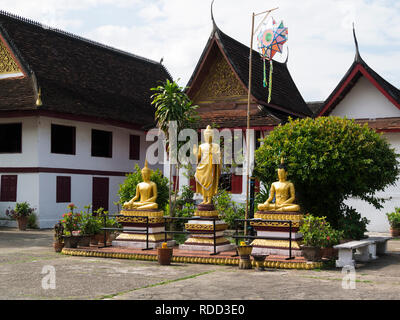 Luang Prabang Royal Palace now National Museum is a set of buildings in French colonial style dating back to the year 1904 - Stock Image