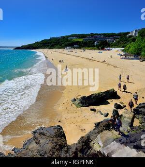 Porthminster Beach,St ives,Cornwall,England,UK - Stock Image